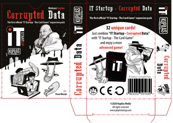 "Corrupted Data - 32 cards expansion pack for ""IT Startup - The Card Game"""