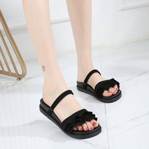 ----womenTake a walk casual sandals 2020 summer new Korean fashion women's shoes thick bottom muffin sole  shoes wild