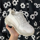 Basket White Sneakers Women Casual Shoes Woman Sneakers Femme 2021 Fashion Women's Spring Shoes Heel Platforms Woman Fashion New