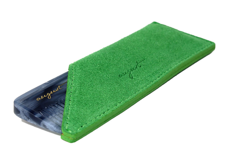 Green Suede Case for Pocket Comb