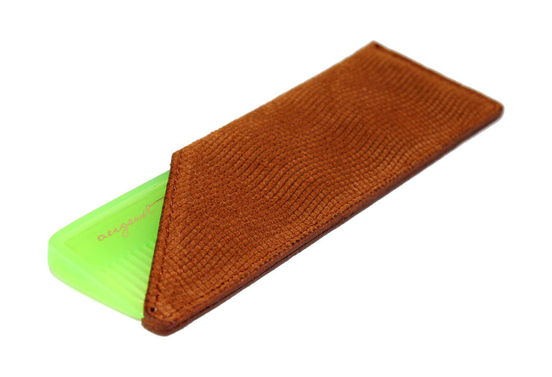 Tan Suede Case for Pocket Comb
