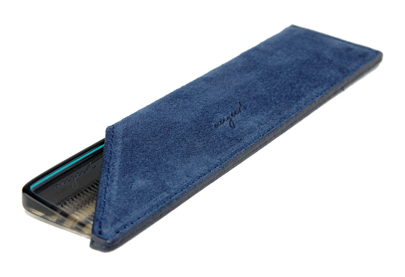Navy Suede Case for Vanity Comb