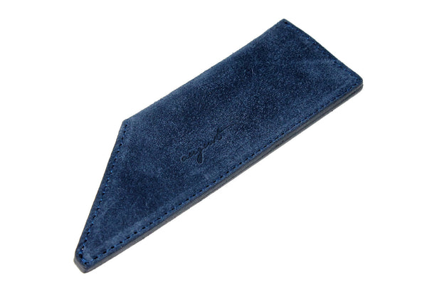 August Grooming suede case in navy for pocket comb