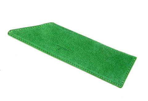 Green Suede Case for Vanity Comb