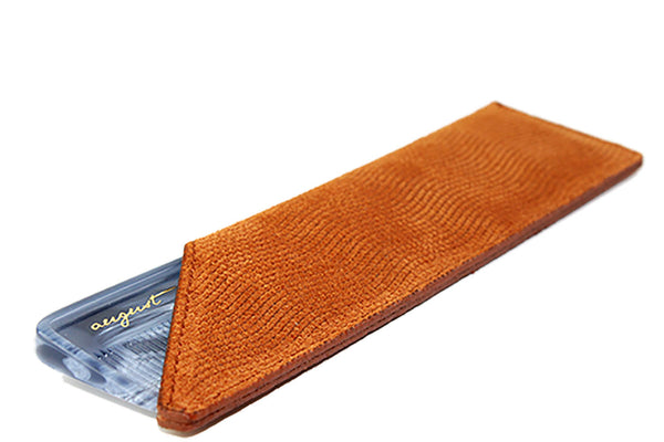 Tan Suede Case for Vanity Comb