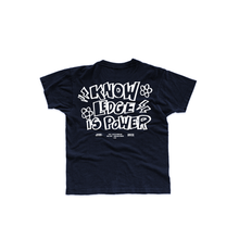 "Load image into Gallery viewer, Rare Spirit x Knowledge Barbers ""Knowledge is Power"" Tee"