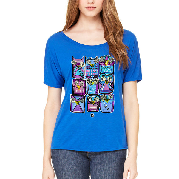 Lebo Art - A Parliament of Owls - Women's T-Shirt