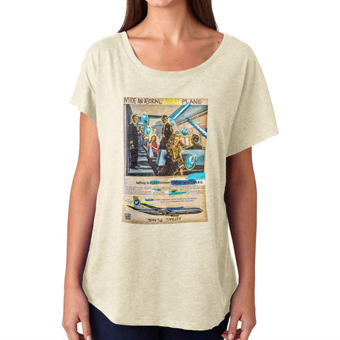 Lebo - Astral Plane - Women's Scoop Neck - (Off-White)