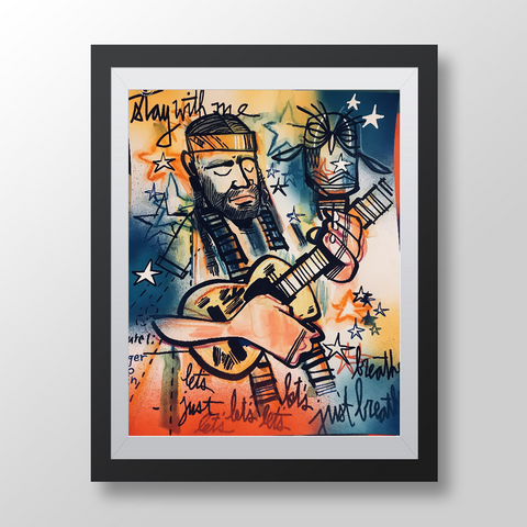 Willie Nelson - Limited Edition - Sketchbook Print