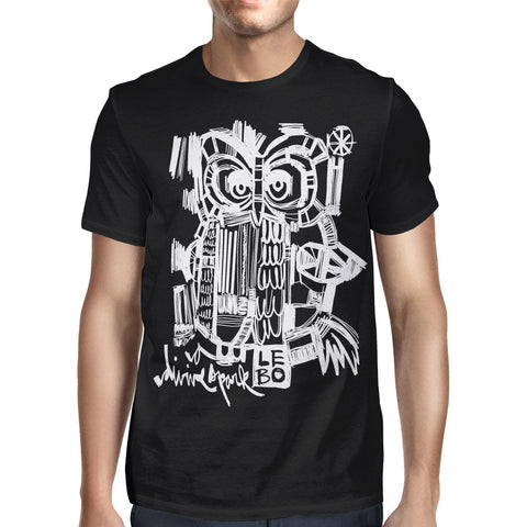 Lebo - Divine Spark - Men's Basic Tee - (Black/White)
