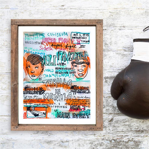 Thrilla in Manila - Limited Edition Sketchbook Print