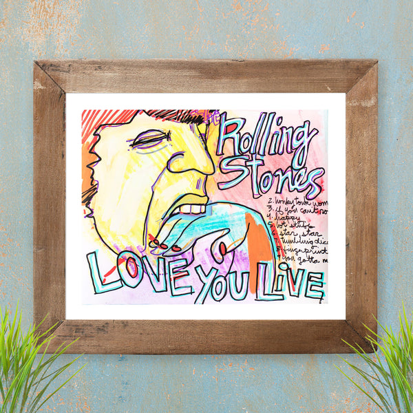 Love You Live - Rolling Stones - Limited Edition Sketchbook