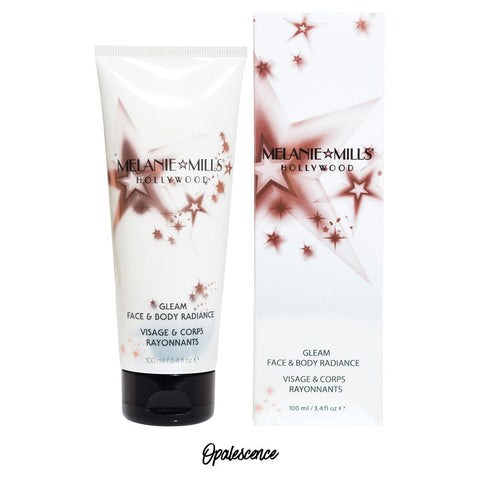 Melanie Mills Hollywood Opalescence Gleam Face & Body Radiance All In One Makeup, Moisturiser and Glow 100ml