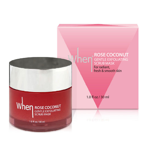 When Rose Coconut Gentle Exfoliating Scrub Mask