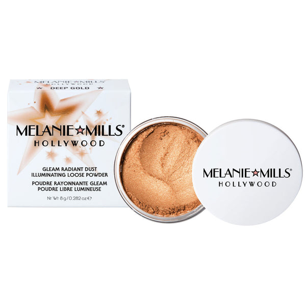 Melanie Mills Hollywood-DEEP GOLD Gleam Radiant Dust Shimmering Loose Powder
