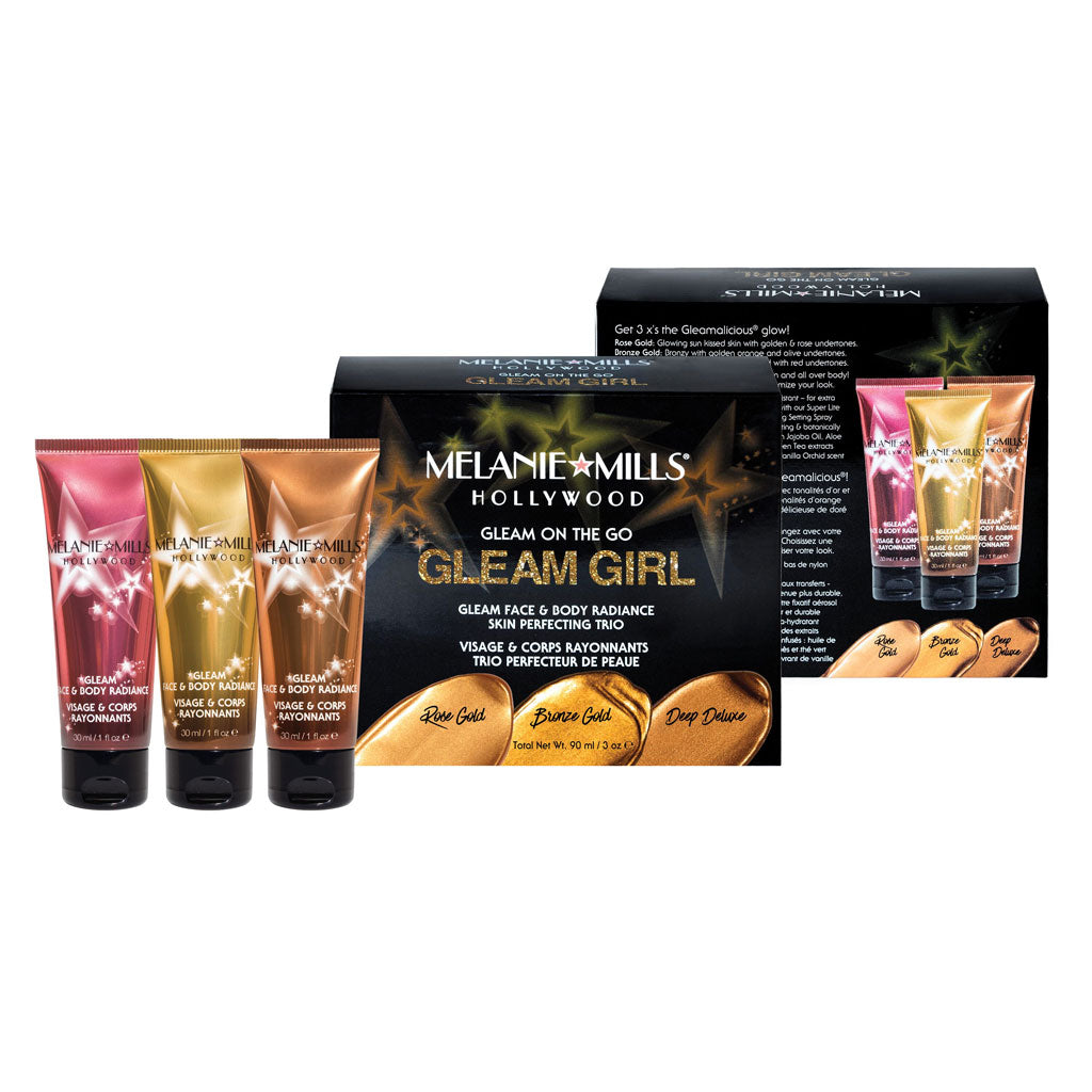 Melanie Mills Hollywood-Gleam Girl Gleam On The Go Gleam Face & Body Radiance Kit