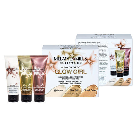 Melanie Mills Hollywood-Glow Girl Gleam On The Go, Gleam Face & Body Radiance Kit