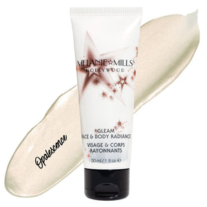 Melanie Mills Hollywood Opalescence Gleam Face & Body Radiance All In One Makeup, Moisturiser and Glow 30ml