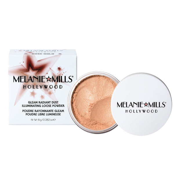 Melanie Mills Hollywood-ROSE GOLD Gleam Radiant Dust Shimmering Loose Powder