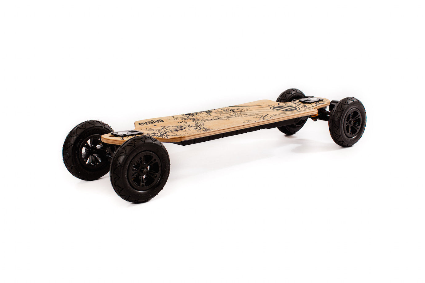 Electric Skateboard For Sale >> Evolve Bamboo Gt 2 In 1 Electric Skateboard Street And Offroad Wheels Sale