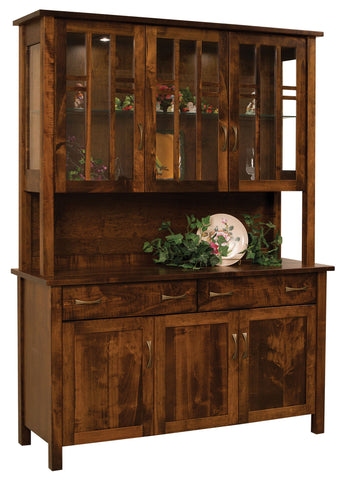 Solid Hardwood Buffet Hutch USA Made Dining Room Furniture HomePlex  Furniture Featuring USA Made Quality Furniture