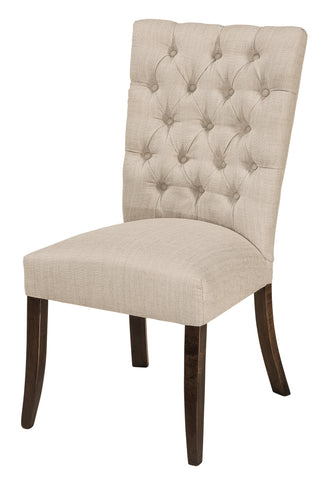 Solid Hardwood Dining Room Alana Chair - HomePlex Furniture Featuring USA Made Quality Furniture