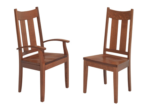 Solid Hardwood Dining Room Aspen Chair - HomePlex Furniture Featuring USA Made Quality Furniture