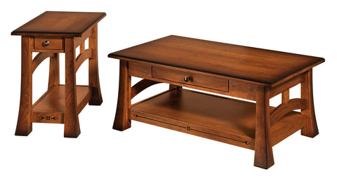 Solid Hardwood Coffee End Sofa Tables Heirloom Quality HomePlex Furntiure Indianapolis Indiana