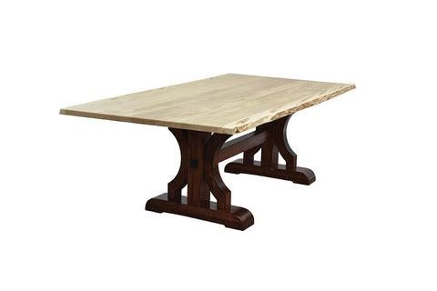 Solid Hardwood Dining Room Live Edge Table Heirloom Quality - HomePlex Furniture in Indianapolis, Indiana