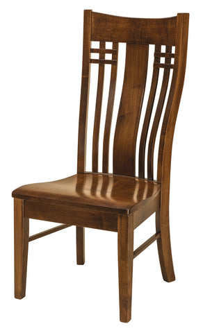 Solid Hardwood Dining Room Bennett Chair - HomePlex Furniture Featuring USA Made Quality Furniture