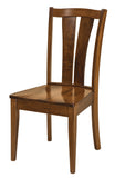 Solid Hardwood Dining Room Brawley Chair - HomePlex Furniture Featuring USA Made Quality Furniture