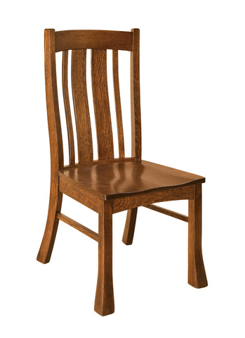 Solid Hardwood Dining Room Breckenridge Chair - HomePlex Furniture Featuring USA Made Quality Furniture