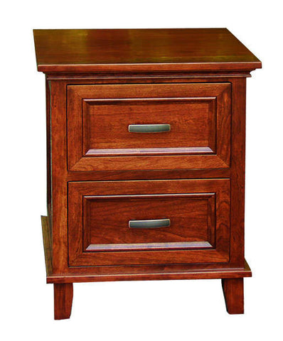 Brooklyn Collection Solid Hardwood Nightstand Two Drawer at HomePlex Furniture USA made Quality Furniture