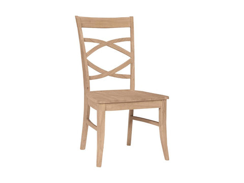 Solid Hardwood Dining Room Milano Chair - HomePlex Furniture Featuring USA Made Quality Furnitur