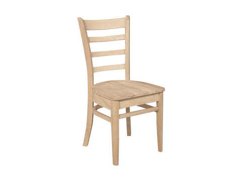 Solid Hardwood Dining Room Emily Chair - HomePlex Furniture Featuring USA Made Quality Furnitur