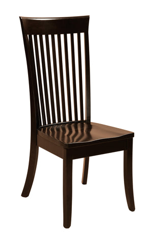 Solid Hardwood Dining Room Carlisle Chair - HomePlex Furniture Featuring USA Made Quality Furnitur