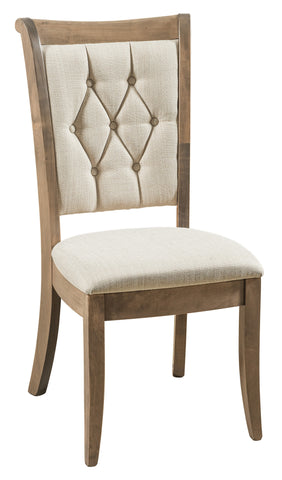 Solid Hardwood Dining Room Chelsea Chair - HomePlex Furniture Featuring USA Made Quality Furniture