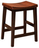 Solid Hardwood Dining Room Coby Stool - HomePlex Furniture Featuring USA Made Quality Furnitur