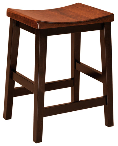 Solid Hardwood Dining Room Coby Stool - HomePlex Furniture Featuring USA Made Quality Furniture