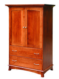 Crescent Collection Bed Solid Hardwood Armoire at HomePlex Furniture USA made Quality Furniture