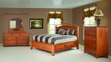 Crescent Collection Bed Solid Hardwood Bedroom at HomePlex Furniture USA made Quality Furniture