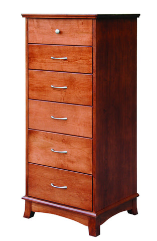 Crescent Collection Bed Solid Hardwood Lingerie Chest at HomePlex Furniture USA made Quality Furniture