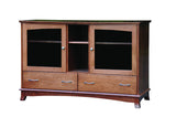 Crescent Collection Bed Solid Hardwood TV Stand at HomePlex Furniture USA made Quality Furniture