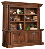 Double Bookcase Solid Hardwood Paris Series Office Furniture HomePlex Furniture Indianapolis In