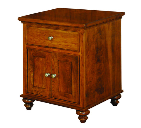 Duchess Collection Solid Hardwood Single Drawer 2 DoorsNightstand at HomePlex Furniture USA made Quality Furniture