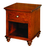 Duchess Collection Solid Hardwood Single Drawer Nightstand at HomePlex Furniture USA made Quality Furniture