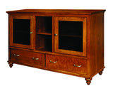 Duchess Collection Solid Hardwood TV Console at HomePlex Furniture USA made Quality Furniture
