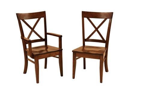 Solid Hardwood Dining Room Frontier Chair - HomePlex Furniture Featuring USA Made Quality Furniture