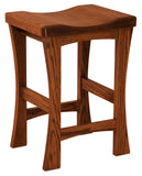 Solid Hardwood Dining Room Kalston Stool - HomePlex Furniture Featuring USA Made Quality Furniture