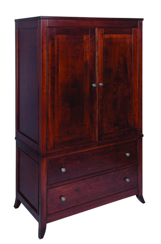 Kingston Collection Solid Hardwood Armoire at HomePlex Furniture USA made Quality Furniture
